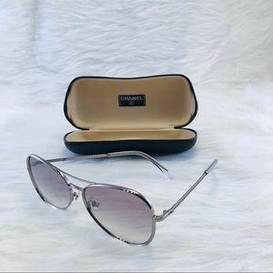 2019 CHANEL Pilot Sunglasses Gray